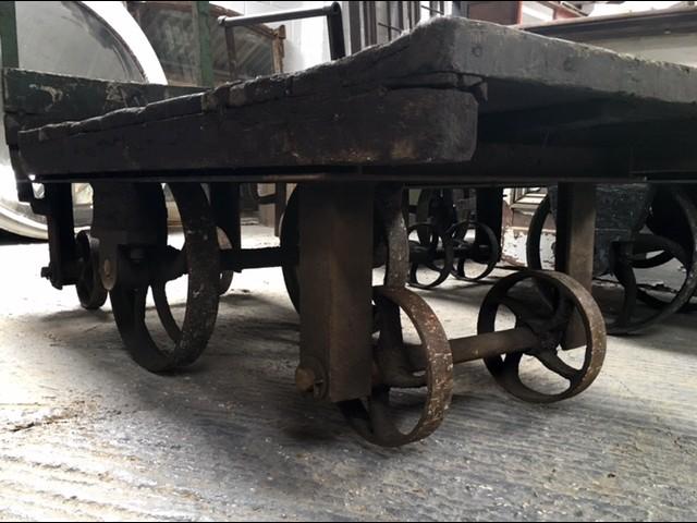 Vintage Industrial Trolley Coffee Tables