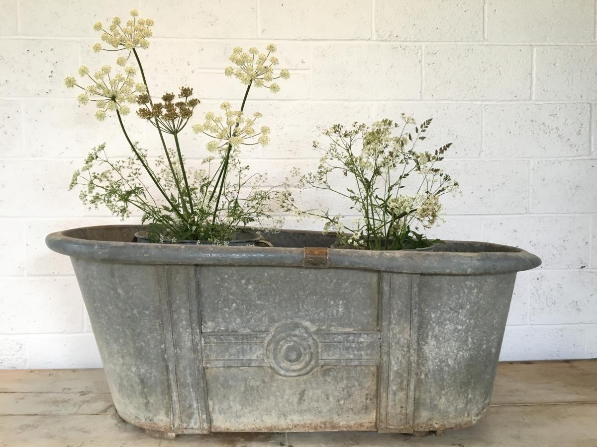 Galvanised Bath