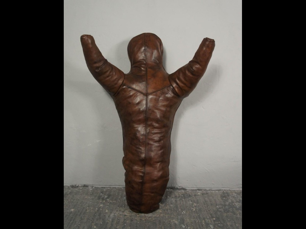Vintage Leather Boxing Doll