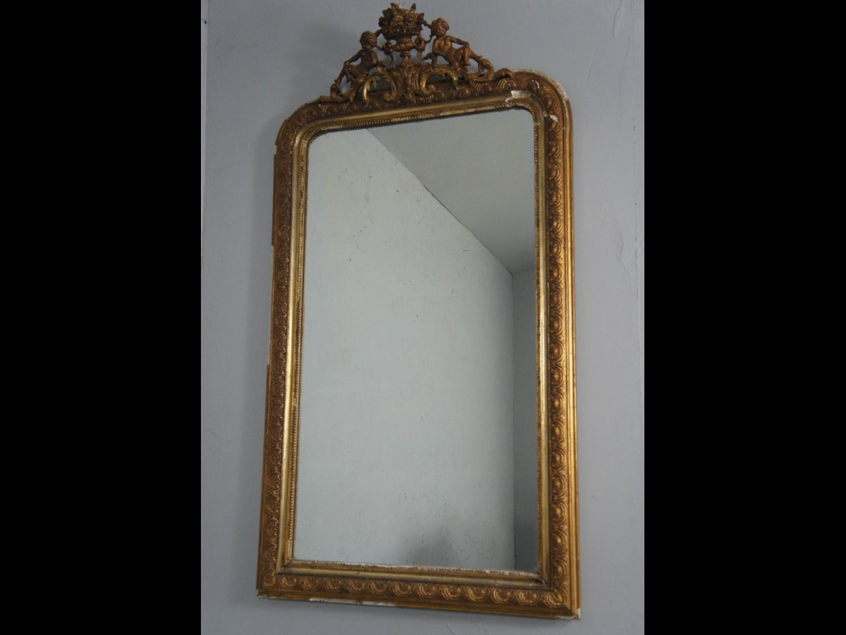 19th Century French Louis Philippe Gilt Mirror