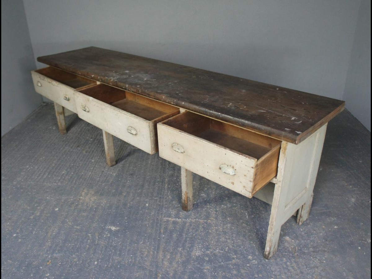 Victorian Painted Pine Shop Counter