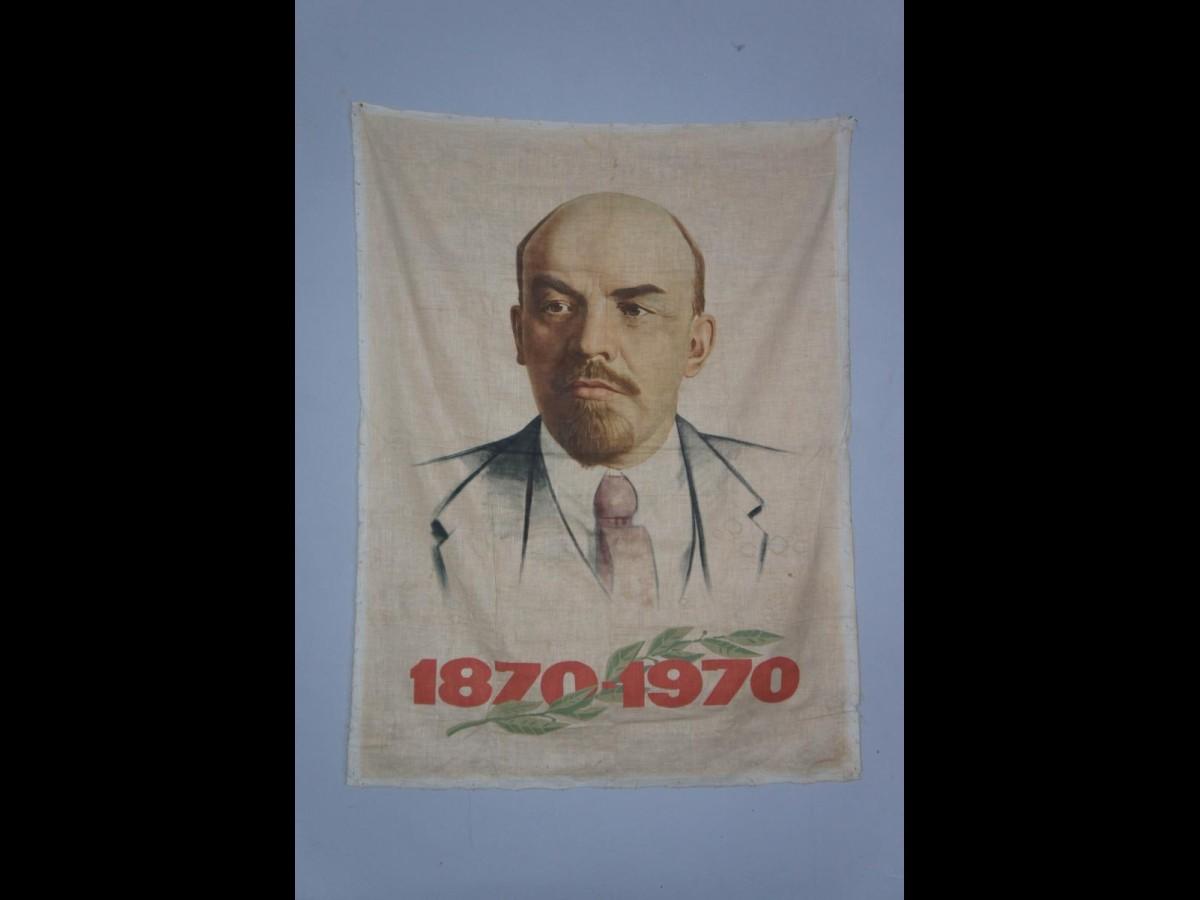 Handpainted Poster of Lenin