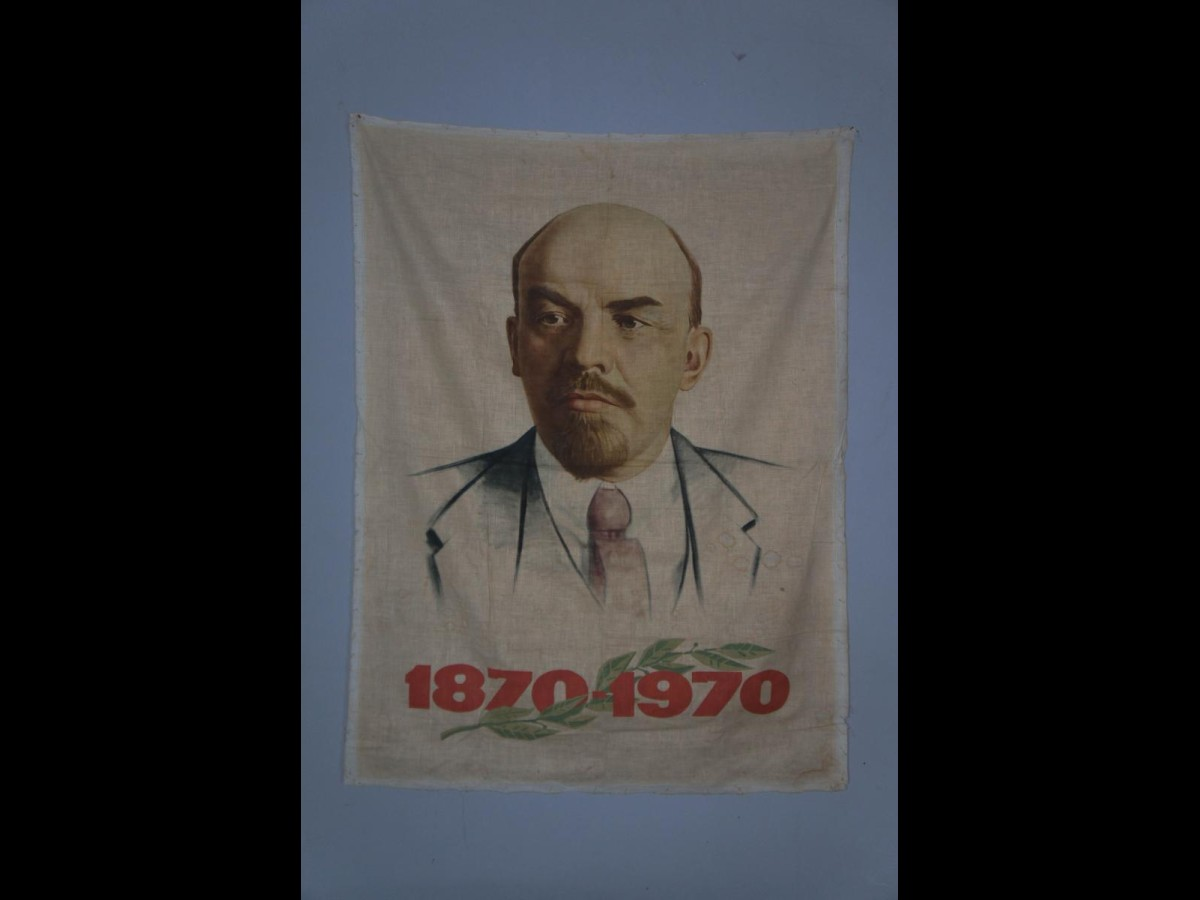 Handpainted Poster of Lenin