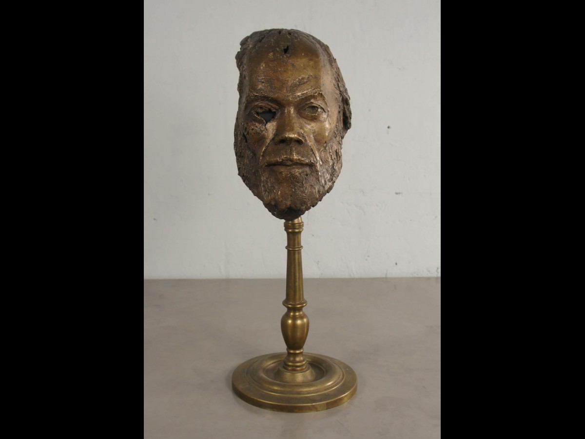 21st Century Bronze Sculpture of Bearded Man by French Artist Bernard Grollier