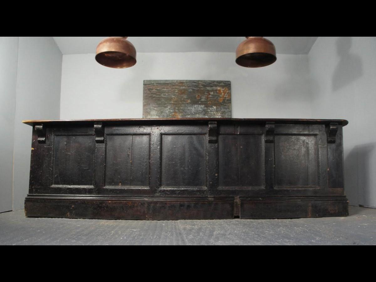 Victorian Ebonized Pine Shop Counter Kitchen Island