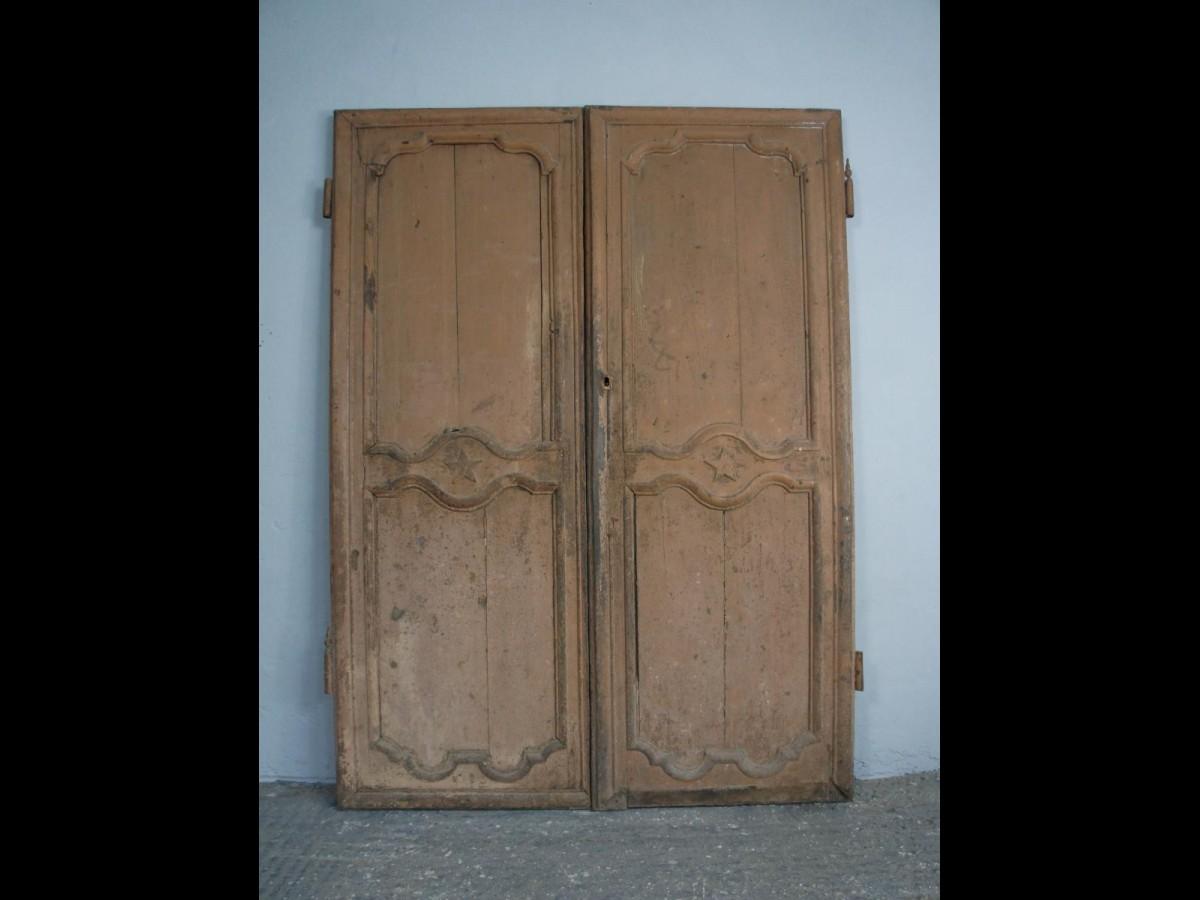 Pair of Decorative Oak French Doors