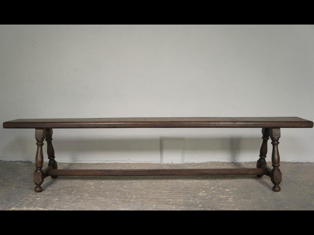 Pair of 19th Century English Oak Joint Hallway Benches