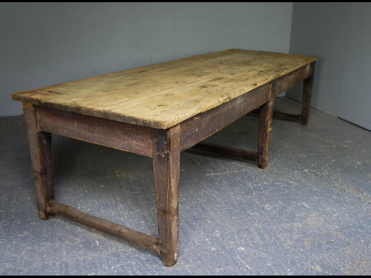 18th Century Georgian Large Scullery Prep Table in Original Paint and Pine Top