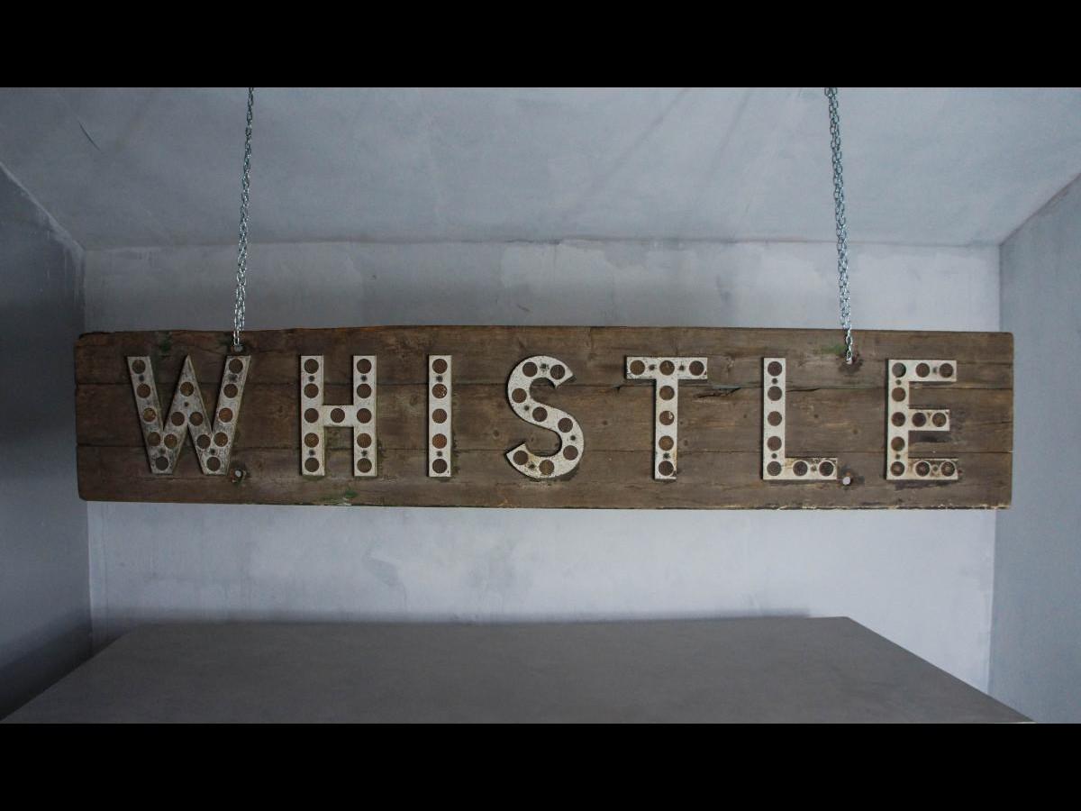 Original 20th Century English Large Wooden Railway Sign Decorative Wall Art