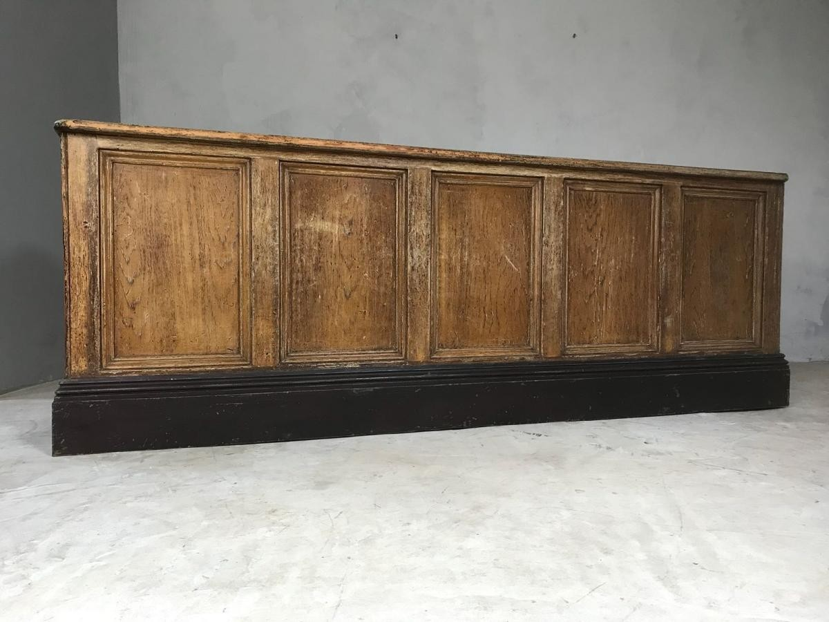19th Century English Oak Victorian Shop Counter Kitchen Island