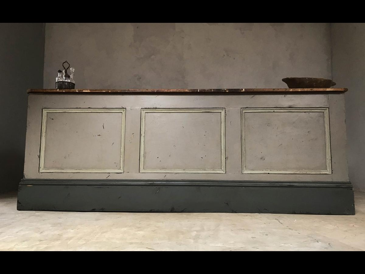Late 19th Century Victorian Pine Shop Counter