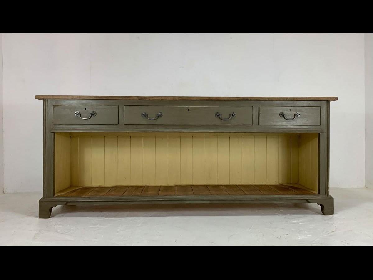 Victorian English Dresser Base Sideboard Credenza Potting Board Server Table