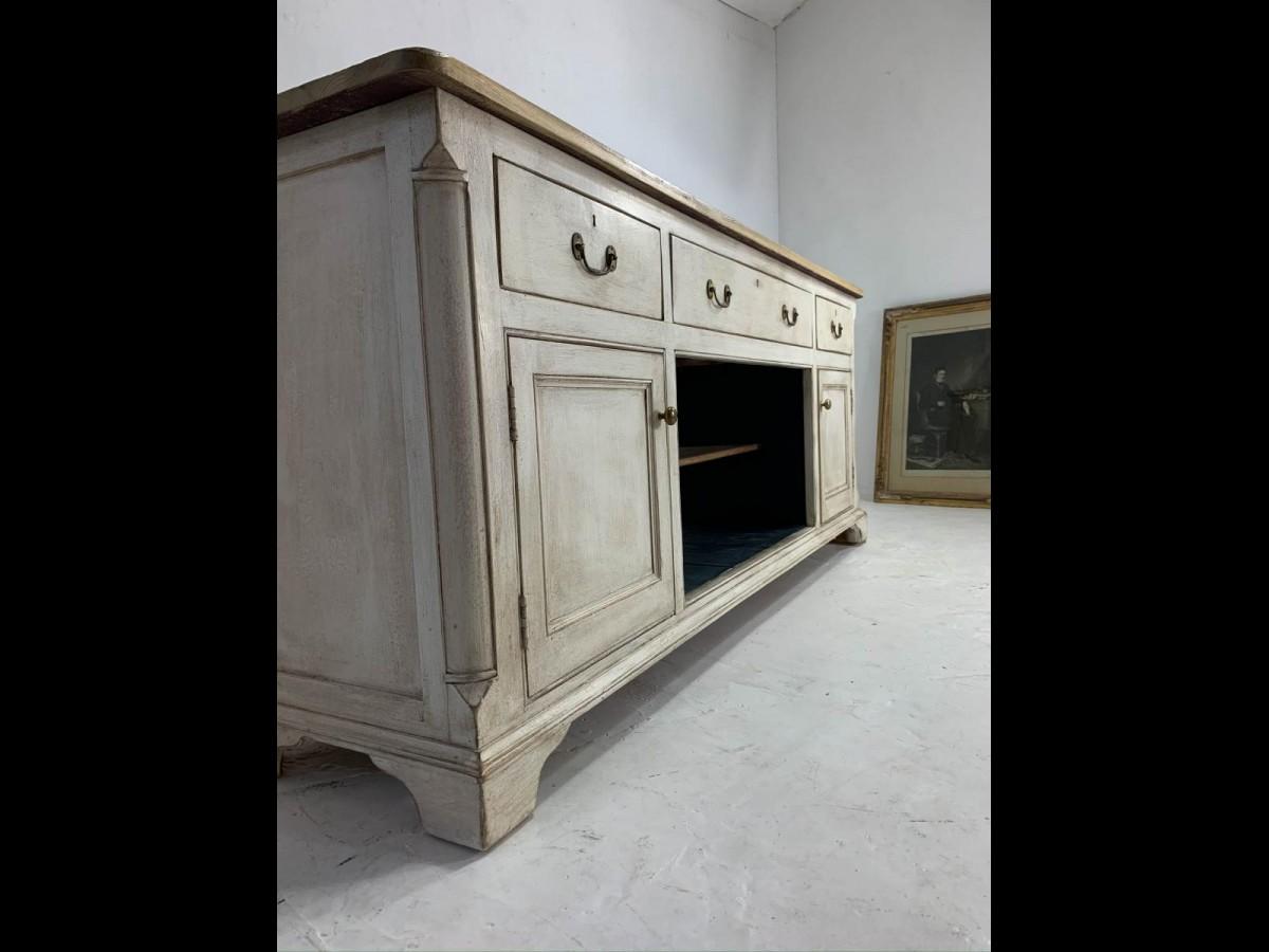 Restored Victorian Pine Dresser Sideboard