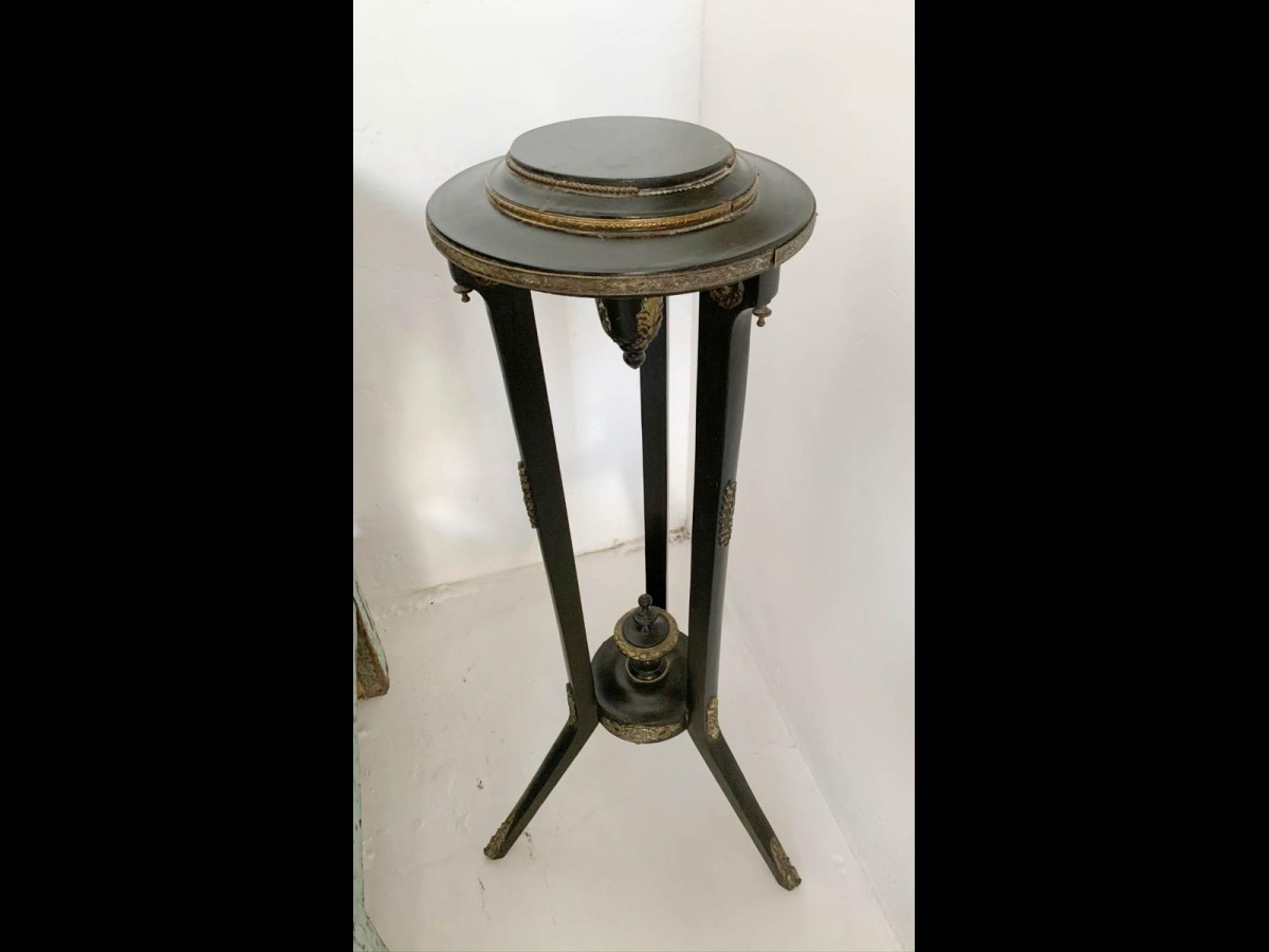 Antique Black Plant Stand