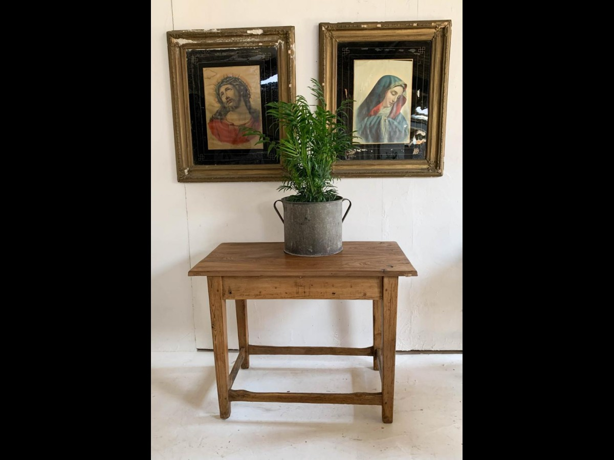 Rustic Wooden Console Table with Elm Top