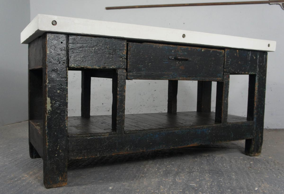 Vintage Industrial Workbench Kitchen Island Sideboard