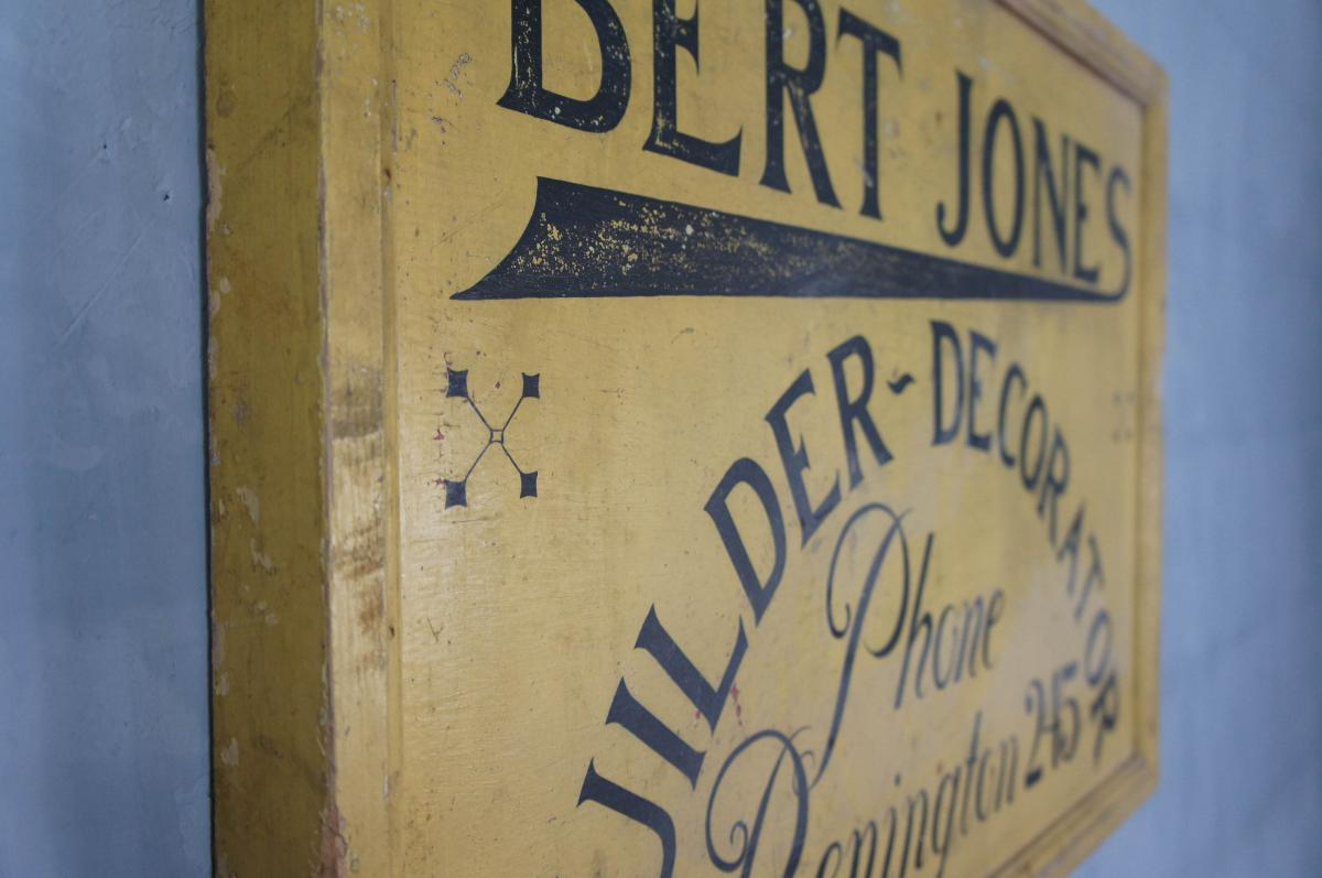 Vintage Wooden Advertising Sign