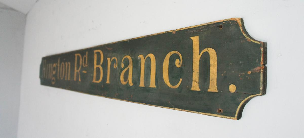 20th Century Vintage Decorative Wooden Advertising Sign