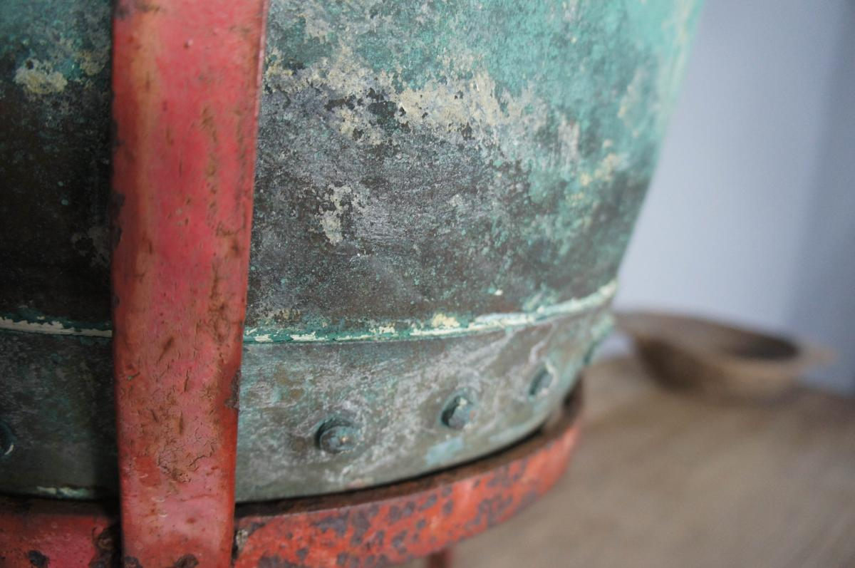 Verdigris Copper Planter on Stand