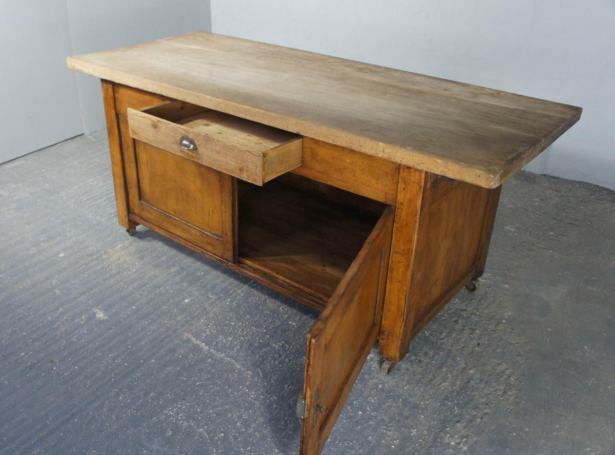20th Century Pine and Beech Baker's Table