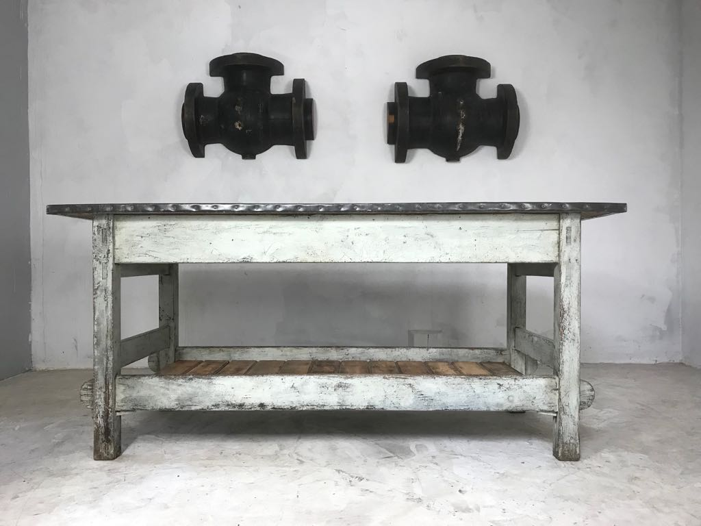 20th Century Pair of Vintage Industrial Factory Foundry Pattern Moulds