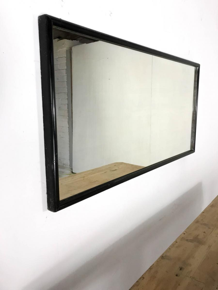 Early 20th Century Black Ebonised Haberdashery Shop Mirror