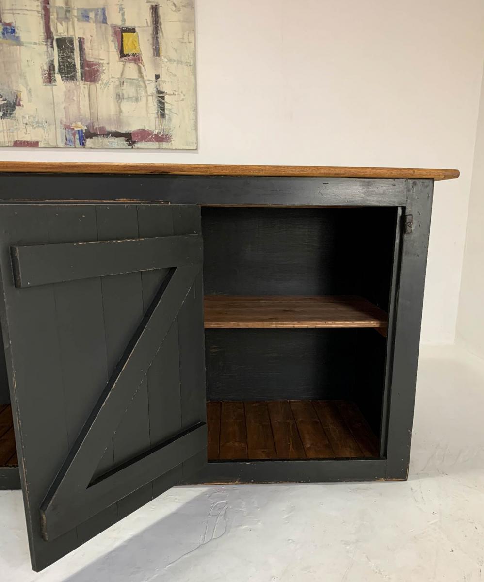Vintage Pine and Oak Haberdashery Shop Counter Kitchen Island Waiter Station